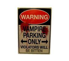 VAMPIRE PARKING TIN SIGN - METAL WALL DECORATION