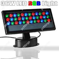 36W RGB LED Light Floodlight Wall Wash Lamp Outdoor Party Stage IP65 Garden