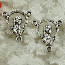 Free Ship 60 pieces Antique silver Jesus connector 20x18mm #1495