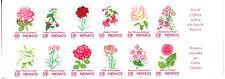 MONACO, non dentelé imperf carnet n° 12, Fleurs Roses, superbe ** et RARE !