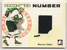 Maxime Talbot 06-07 ITG Heroes & Prospects Game Jersey Patch Number Silver /30