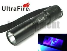 Ultrafire C3 UV 395nm Ultraviolet LED Money Detector Cheque Torch