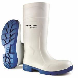 Dunlop Purofort Multigrip Safety White Wellington Work Boots Food Pro S4