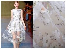 Fashion Organza Printing Flowers 3D Tulle Dresses Laces Fabrics 51'' wide1 Yard