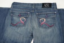 Women ROCK AND REPUBLIC Kurt Purple Buttons Jeans Size 26 X 35