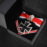 WW2 Germany knights Corss Medal Badge with silver Oak Leaves and Ribbon with box
