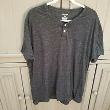 Arizona xxl black henley pullover new without tags