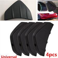 4Pcs Auto Car Rear Bumper Diffuser Shark Fin Spoiler Molding Point Garnish Black