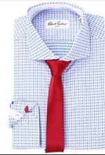 Robert Graham Men's Dress Shirt NWT Size 16.5 Chai Blue