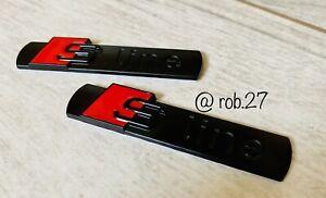 2 x S-Line Embleme Kotflügel Seitenwand tronic schwarz matt