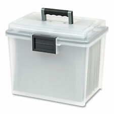 Iris Weathertight Portable File Box Letter Files Cleargray Accents 110351