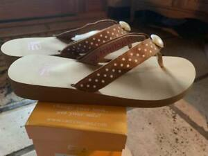 Switchflops LAUREN-Tan-Changeable Straps New in the Box!! Asst Sizes