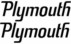 PLYMOUTH ROAD RUNNER DECAL SET - SUPERBIRD - QUARTER PANEL