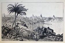 Beau Dessin Ancien Encre RAOUL CHAVE Paysage Algérie Alger La Blanche 1925