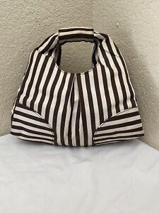 Henri Bendel Centennial Stripe Hobo Satchel Handbag