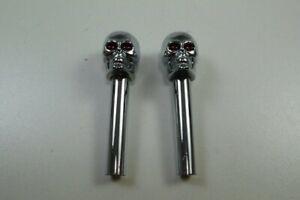 Skull Door Lock Knobs Universal Hot Rat Rod Street Rod Red Eyes Chevy Ford Mopar