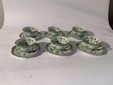 Haviland Limoges - Bonneval Bone China Tea Cups and Saucers