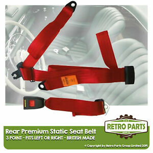 Rear Static Seat Belt For Nissan Cherry Hatchback 1983-1988 Red
