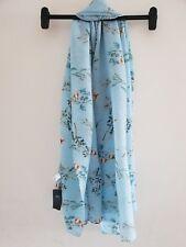 MARKS & SPENCER Ladies Blue Floral Scarf
