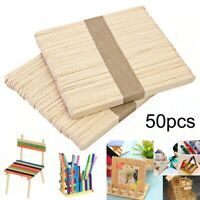 50Pcs Ice Cream Stick Cake DIY Craft Wooden Popsicle Stick Timber Stick 9.2CM