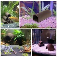 Fish Tank Cave Aquarium Shelter Shrimp Spawn Live Hide Ceramic Ornament Breeding