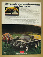 1979 GMC Sierra Classic Pickup black truck camper top photo vintage print Ad