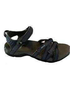TEVA Women's Tirra Sport Walking Sandals Blue Size 9.5 4266 Spider Rubber Soles