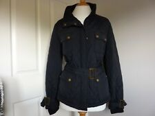 BARBOUR STYLE JACKET - BLACK - SIZE 20 - WORN ONCE.