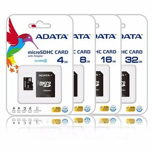 4GB 8GB 16GB 32GB MicroSD SDHC micro SD Class 4 Flash Memory Card + Adapter