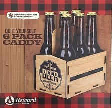 Do It Yourself 6 Pack Beer Bottle Caddy Built In Handle No Tools Needed Man Cave