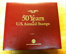 50 Years of U.S. Airmail Stamps Album w/ 87 mint stamps & 1 Gold Stamp