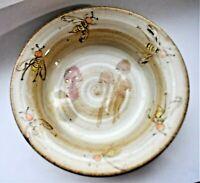Vintage Studio Pottery Mushroom Bees Bowl Tray by Maura Frog Mark 13.5cm wide