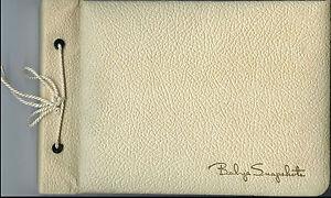 "Vintage White Baby Scrapbook Album Empty 9 1/2"" X 6 1/2"""