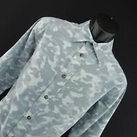 Men The North Face Gray Camo Button Down Shirt Size Medium M Casual Outdoor Hike