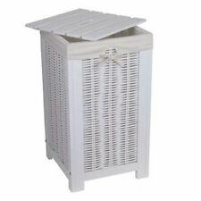 NEG Wäschetruhe/Wäschekorb Wäschebox Wäschesammler Sitzbank Truhe echt Holz weiß