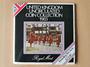 1983 UK Brilliant Uncirculated Coin Set. Bunc/Unc/Bu, Royal Mint, GB, Beefeater
