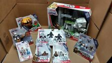 Huge Lot of Star Wars Galactic Heroes: 2 Playsets 3 Vehicles & 18 Action Figures
