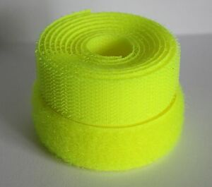 Fluorescent Yellow -20mm Sew on Hook & Loop tape -Various Lengths Alfatex® Brand