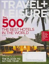 Travel + Leisure Magazine January 2012 500 Best Hotels in the World, 12 for 2012