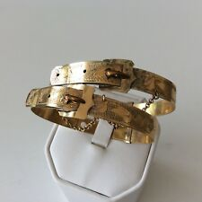 Pair Victorian Buckle Wedding Bracelet Mono INSIDE 2 Bracelets Adjustable rare