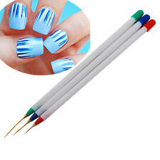 3pcs/set Nail Art Brush Ongle Liner Drawing Painting Line Pen Tools Kit DIY