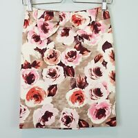 [ REVIEW ] Womens Floral Print Pencil Skirt w/ bow detail | Size AU 6 or US 2