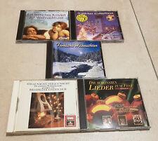 5 CDs - Deutsche Weihnachtslieder verschiedene Interpreten - Top Zustand!