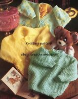 (573) Baby Boy Girl Cosy Cardigan and Sweaters DK Knitting Pattern, 16-22''
