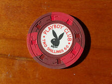 London Playboy Club two and five Shillings casino poker chip REDUCED TO $15.00