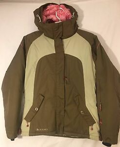 Liquid Boardwear Venture 2500 brown/tan ski/snowboard jacket, teens/mens MED