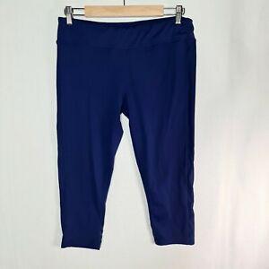 MICHELLE BRIDGES Size 14 Navy Blue Active Fit 3/4 Length Leggings Pants