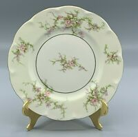 "THEODORE HAVILAND ROSALINDE NEW YORK SALAD PLATE 7 1/2"" RED STAMP"