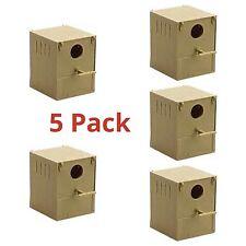 5 X BOX Budgie nido in plastica con pesce persico & Ganci Per Anteriore E Posteriore VOLIERA GABBIA scatole