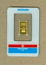 One Gram Gold Credit Suisse Bar 999.9